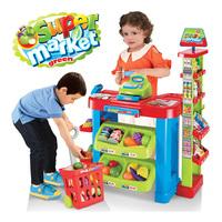 kids shopping cart Child Large supermarket cash register shopping cart baby girl  toys for girls 3 years