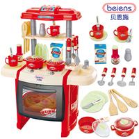 Sallei child toy musical kitchen toys sooktops dinnerware set