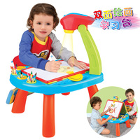 Magnetic drawing board toy baby writing board projection learning desk doll multifunctional doodle board toys for children dolls