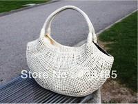 Sequins& Hand Weave Women Shoulder Bag Medium Famous Brand Women Leather Handbags Summer Beach Bags Women 2014