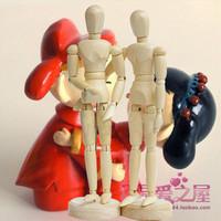 SuperDeals!  Factory Price 8inch 20cm Flexible Schima Human Wooden Puppet Model Figure Free Shipping