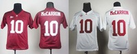 free shipping cheap wholesale,Alabama Crimson Tide #10 AJ McCarron Kid Football jersey embroidery sportswear