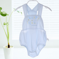 2013 100% baby cotton summer baby rompers apron summer spaghetti strap bodysuit pants 6237