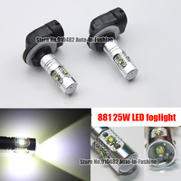 2pcs H27 881 886 894 898 899 25w Cree Chip 5 LED SMD Fog Light Daytime Running Light Bulbs xenon white Free Shipping by HK post