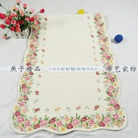 FreeShipping Rustic Country Cotton Quilting Slip-Resistant  Pad Bay  Window Carpet Mats Bed Pad  Car Seat Cushion 1Pcs Pink