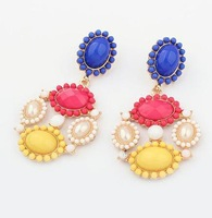 #0154 Min order $10 Fashion Colorful Statement  Earrings for Women Jewelry Factory Price Free Shipping