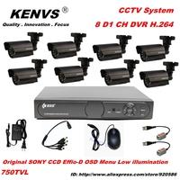 Home 750TVL 4CH CCTV Security Camera System 8CH DVR 750TVL Outdoor Day Night IR Camera DIY Kit Color Video Surveillance System