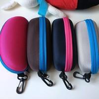 2X   3d zipper bag customize glasses box sunglasses glasses case eva zipper glasses bag  COLOR RANDOM