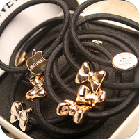 4X   high quality hair accessory vintage metal rubber band hair rope love headband female 4 different styles