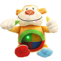 lovely baby plush soft toy - flash & musical monkey
