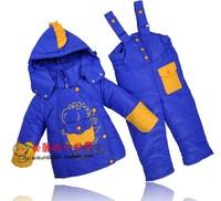 Winter children down jacket parkas suit set coat+pants sets male female child girls boys clothing for kids
