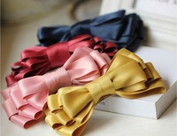 Free shipping High quality girls multiple ribbon bow clip hairpin hair accessory hair pin side-knotted clip accessories