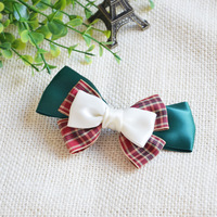 Free shipping Mumu hand for fashion plaid bow hair accessory hairpin ribbon
