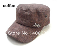 summer unisex men's straw visor cap,  linen baseball hat, 2pcs/lot, free shipping by China post
