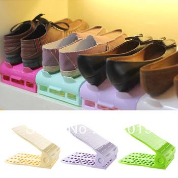 Creative finishing shoe rack, skid adjustable storage shoe racks, shoe care, 2PCS