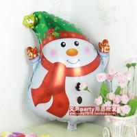 huge 10 pcs/lot 47*63cm snowman shape balloon for chirstmas decoration balloons festive decoration balloon christmas balloon