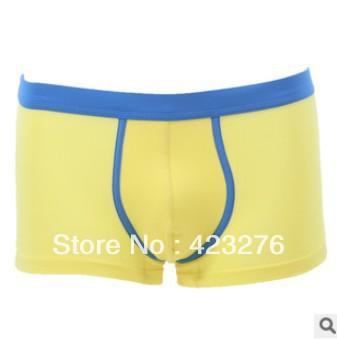 5pcs FREE SHIPPING new men panties modal boyleg men's mid waist seamless panties men's underwear Men's Boxers(China (Mainland))