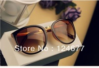 Hot Sale 2013 Men Women New Style big black fashion vintage Metal Eyeglass Sunglasses Freeshipping