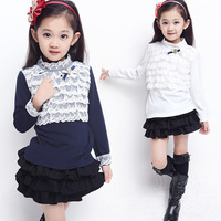 2013 children kids girls long sleeves kids shirt New brand fashion clothing autumn casual 100% cotton free shipping