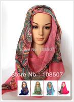 Fashion 10pcs/lot 100%  Viscose Paisley Scarf Shawl Wrap New Women Garment Accessories Floral Wholesale Hijab Muslim Headband