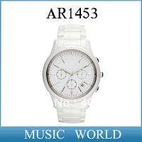 free shipping AR 1453 Quartz Movement Mens white ceramic Watch With Original box And Certificate Model AR1453 +Original Box