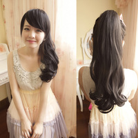 Wig roll horseshoers clip type female fluffy natural scroll dull filament mawei