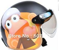 The original authorization circle bi boh monkey grind arenaceous black BanKui electric motorcycle helmet