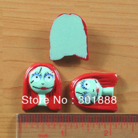 Free shipping ,Wholesale 50pcs/LOT,NEW The Nightmare Before Christmas Sally Halloween Resin Cabochons Flatback  IN STOCK ,YCB71