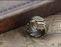 Sample order 2014 Men gothic steampunk vintageTree leaf rings retro style exaggerated ring accessories jewelry free shipingF0124