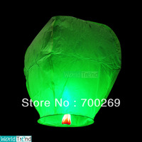 Free Shipping Chineses Green Lantern Sky Lantern Kongming Lantern Flying Wishing Lamp Wedding Party Paper Lights(20pcs/lot)