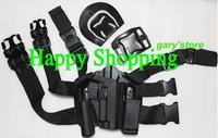 New type P226 tactical puttee thigh belt drop Leg holster pouch Pistol Black