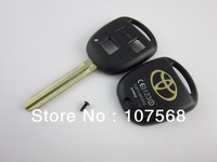 Blank 2 Buttons Remote Key Case For Toyota Corolla Camry Prado RAV4 FOB Shell