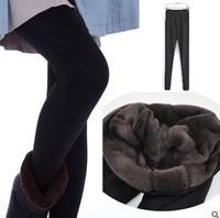 Free shipping winter thickening legging 2013 women's plus size extra velvet warm pants Ladies black slim boot  leggings L-XXL