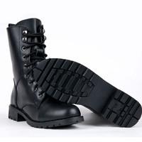 Free Shipping Fashion Women Black Punk Lace Up  Martin Motorcycle Rivet Boots Shoes KE086