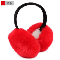 Winter women's folding solid color plush earmuffs wool ear package earmuff earmuffs