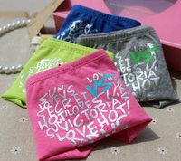 PINK  Wholesale Sexy VS Low Rise Panty Thong Pure Cotton Letter Print Women's Briefs