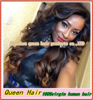 Freeshipping!!! Two Tone Glueless Full Lace Wig& Front Lace Wig with baby hair Bleached knots Brazilian Virgin ombre human hair