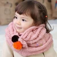 Fashion autumn and winter yarn scarf muffler child scarf female child muffler scarf baby muffler scarf