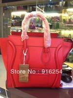 New 2013 Women messenger bag women's leather handbag designer brand celebrity style smile luxurious shoulder bags Free shipping