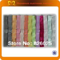 New Fashion Plain Elastic Headbands Lovely Design glitter elastic material for headband 60pieces/lot