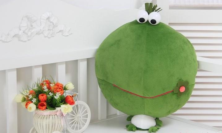 Free Shipping Big head plush stuffed frog model toy,big size frog plush toys,50*28cm,green frog toy.(China (Mainland))
