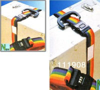 Free shipping,adjustable luggage suitcase belt with password Rainbow baggage backpack bag bind belt as travel accessory.