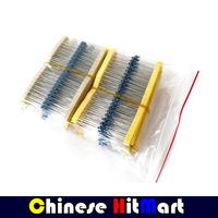 Total 1200pcs 1% 1/4W Metal Film Resistor Assorted Kit Assorted Set 30 Values (10 Ohm~1M Ohm) ,40pcs Each value #LSS10
