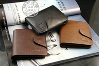 Free shipping 2013 new fashion men's casual genuine leather wallet