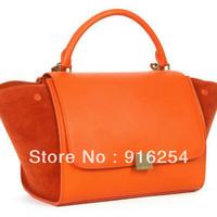 Trapeze Bag Original Suede Leather one shoulder women's handbag  Women Messenger Bag