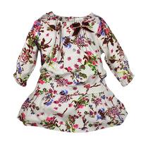 2013 children's autumn clothing monsoon female child one-piece  three quarter sleeve princess child skirt