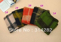 fashion plain women printe lace flower scarf/shawls viscose plaid long MUSLIM/hijab scarves 15pcs/lot 5color