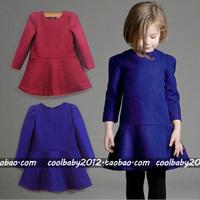 Monsoon big children girls fall 2013 woolen cloth long-sleeved dress