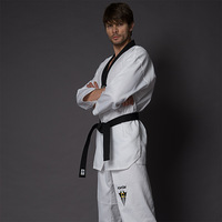 Kwon adult tae kwon do polyester cotton myfi taekwondo clothes