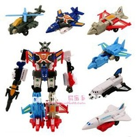 Christmas Gift High quality 6 in 1 Robot Plane robot Toys with retail box